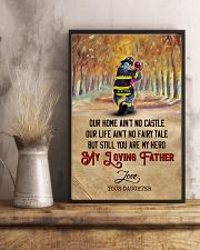 To My Dad - Firefighter - Poster 16x24 Poster lifestyle-poster-3