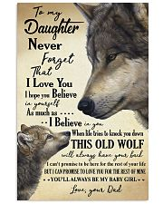 DAD TO DAUGHTER 16x24 Poster front