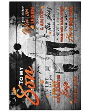 To My Son - Taking Hands - Wherever Your Journey 16x24 Poster front