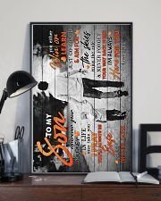 To My Son - Taking Hands - Wherever Your Journey 16x24 Poster lifestyle-poster-2