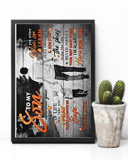 To My Son - Taking Hands - Wherever Your Journey 16x24 Poster lifestyle-poster-8