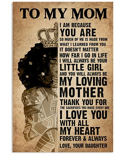 TO MY MOM - GIRL - THANK YOU