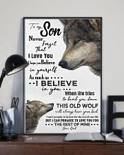 TO MY SON - WOLF- NEVER FORGET THAT 16x24 Poster lifestyle-poster-2