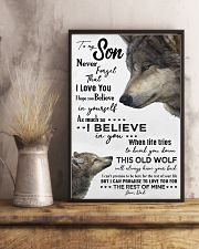 TO MY SON - WOLF- NEVER FORGET THAT 16x24 Poster lifestyle-poster-3