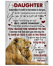 To My Daughter - Lion - Sometimes It's Hard  16x24 Poster front