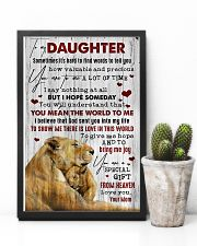To My Daughter - Lion - Sometimes It's Hard  16x24 Poster lifestyle-poster-8