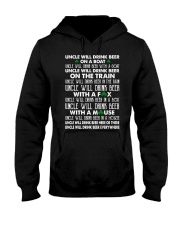 Uncle will drink beer on a boat Hooded Sweatshirt thumbnail