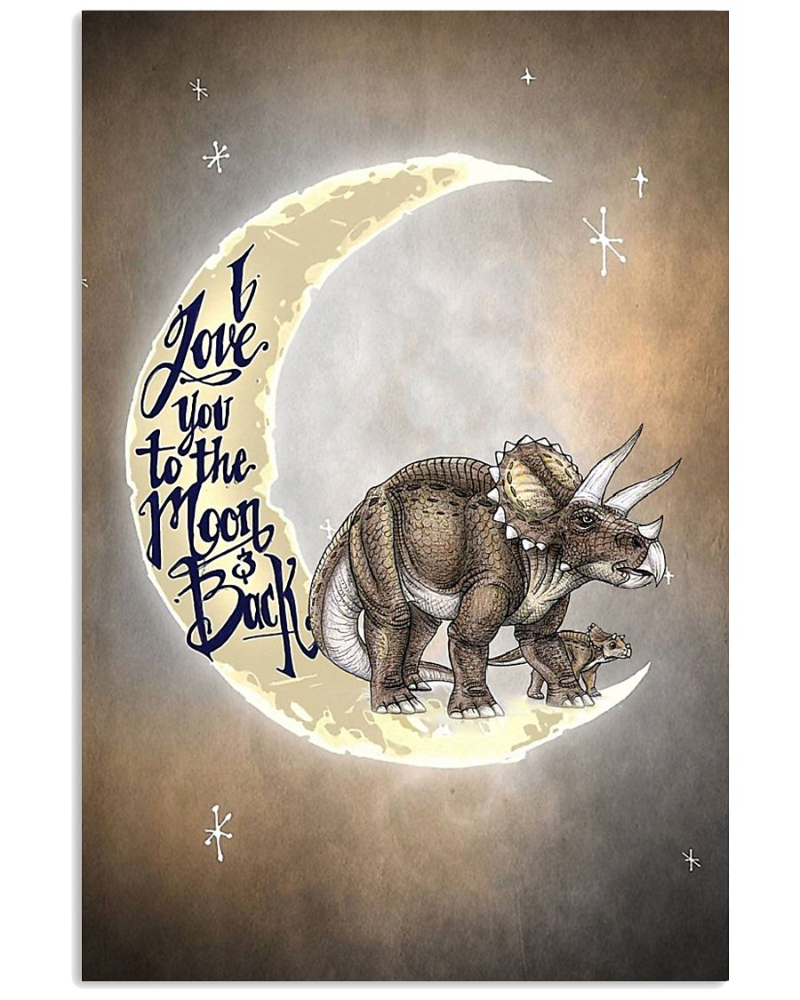 TO KIDS - DINOS - LOVE YOU TO THE MOON 16x24 Poster