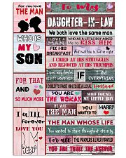 To My Daughter-in-law - We Both Love The Same Man 16x24 Poster front