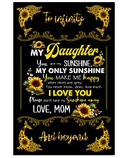 TO DAUGHTER - SUNFLOWER DOLPHIN - MY SUNSHINE 16x24 Poster front