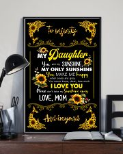 TO DAUGHTER - SUNFLOWER DOLPHIN - MY SUNSHINE 16x24 Poster lifestyle-poster-2