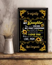 TO DAUGHTER - SUNFLOWER DOLPHIN - MY SUNSHINE 16x24 Poster lifestyle-poster-3