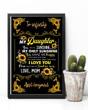 TO DAUGHTER - SUNFLOWER DOLPHIN - MY SUNSHINE 16x24 Poster lifestyle-poster-8