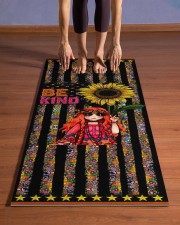 Independence Day - Hippie - Be Kind - Yoga Mat Yoga Mat 24x70 (vertical) aos-yoga-mat-lifestyle-26
