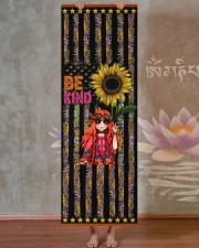Independence Day - Hippie - Be Kind - Yoga Mat Yoga Mat 24x70 (vertical) aos-yoga-mat-lifestyle-29