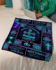 """To Fiancee - Cross - God Blessed The Broken Road Small Fleece Blanket - 30"""" x 40"""" aos-coral-fleece-blanket-30x40-lifestyle-front-07"""