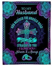 """Husband - Cross - Rings - God Blessed The Broken  Small Fleece Blanket - 30"""" x 40"""" front"""