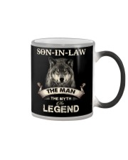 SON-IN-LAW - WOLF - THE MAN THE MYTH THE LEGEND Color Changing Mug thumbnail