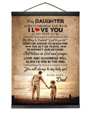 To Daughter - Always Remember How Much - Canvas Hanging Canvas tile