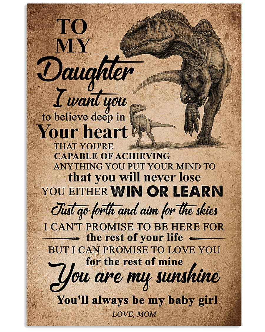 MOM TO DAUGHTER 16x24 Poster