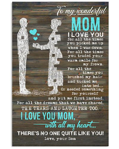 POSTER - TO MY MOTHER - PIECE - I LOVE YOU