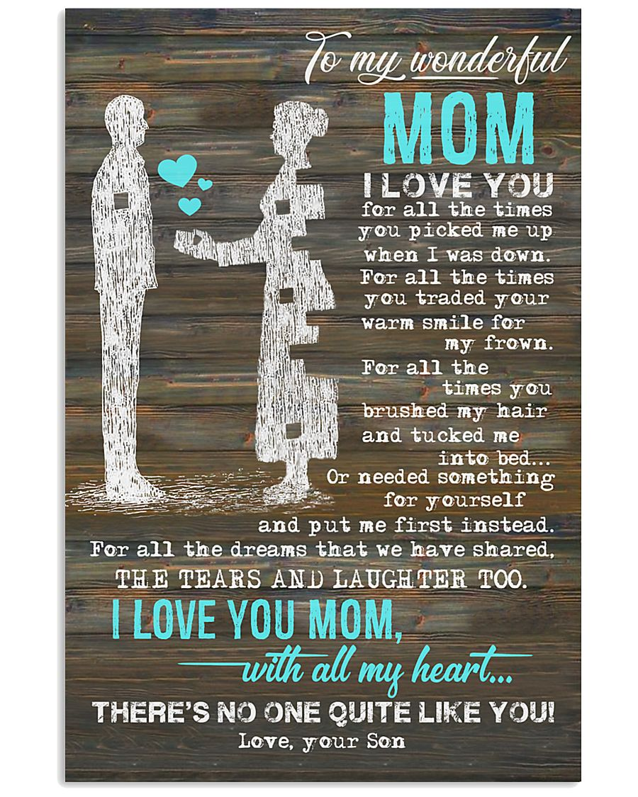 POSTER - TO MY MOTHER - PIECE - I LOVE YOU 16x24 Poster