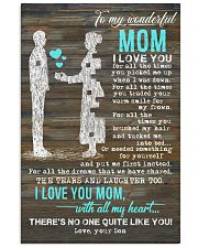 POSTER - TO MY MOTHER - PIECE - I LOVE YOU 16x24 Poster front