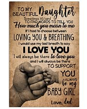 TO DAUGHTER - SOMETIMES - BABY GIRL 16x24 Poster front