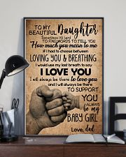 TO DAUGHTER - SOMETIMES - BABY GIRL 16x24 Poster lifestyle-poster-2