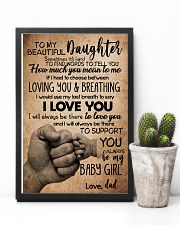 TO DAUGHTER - SOMETIMES - BABY GIRL 16x24 Poster lifestyle-poster-8