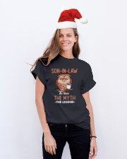 SON-IN-LAW - OWL - THE MAN THE MYTH THE LEGEND Classic T-Shirt lifestyle-holiday-crewneck-front-1