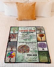 """TO MY MOM - TREE - MY LOVING MOM Small Fleece Blanket - 30"""" x 40"""" aos-coral-fleece-blanket-30x40-lifestyle-front-04"""
