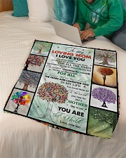 """TO MY MOM - TREE - MY LOVING MOM Small Fleece Blanket - 30"""" x 40"""" aos-coral-fleece-blanket-30x40-lifestyle-front-07"""