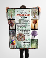 """TO MY MOM - TREE - MY LOVING MOM Small Fleece Blanket - 30"""" x 40"""" aos-coral-fleece-blanket-30x40-lifestyle-front-14"""