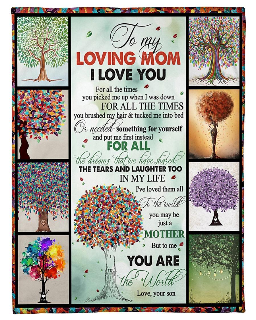 "TO MY MOM - TREE - MY LOVING MOM Small Fleece Blanket - 30"" x 40"""