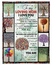 "TO MY MOM - TREE - MY LOVING MOM Small Fleece Blanket - 30"" x 40"" front"
