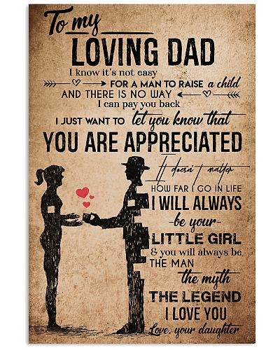 TO MY DAD - VINTAGE - YOU ARE APPRECIATED