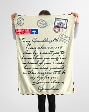 """Gift For Granddaughter - Fleece Blanket Small Fleece Blanket - 30"""" x 40"""" aos-coral-fleece-blanket-30x40-lifestyle-front-14"""