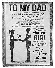 FLEECE BLANKET - TO MY DAD - MY DAD MY HERO Fleece Blanket tile