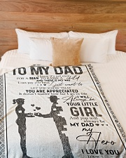 """FLEECE BLANKET - TO MY DAD - MY DAD MY HERO Large Fleece Blanket - 60"""" x 80"""" aos-coral-fleece-blanket-60x80-lifestyle-front-02"""