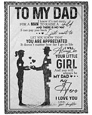 """FLEECE BLANKET - TO MY DAD - MY DAD MY HERO Large Fleece Blanket - 60"""" x 80"""" front"""