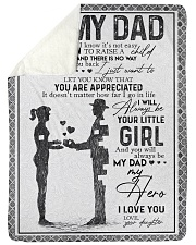 FLEECE BLANKET - TO MY DAD - MY DAD MY HERO Sherpa Fleece Blanket tile