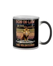 Son-in-law - Lion - You Volunteered - Poster Color Changing Mug tile