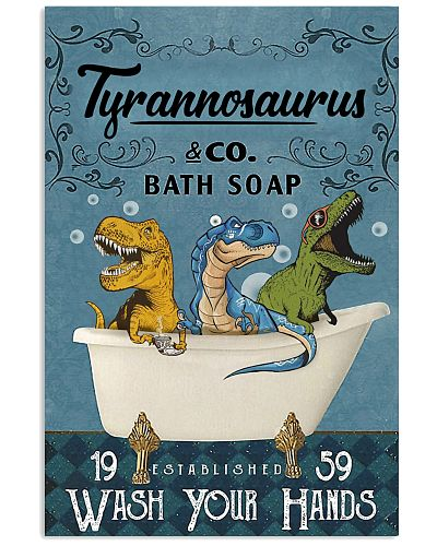 POSTER - TO KIDS - T REX - WASH YOUR HANDS