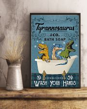 POSTER - TO KIDS - T REX - WASH YOUR HANDS 16x24 Poster lifestyle-poster-3