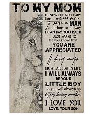 TO MY MOM - LION - YOU ARE APPRECIATED 16x24 Poster front
