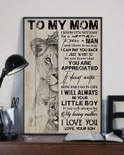 TO MY MOM - LION - YOU ARE APPRECIATED 16x24 Poster lifestyle-poster-2