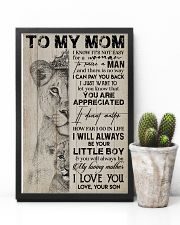 TO MY MOM - LION - YOU ARE APPRECIATED 16x24 Poster lifestyle-poster-8