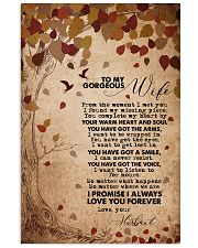 TO MY GORGEOUS WIFE 16x24 Poster front