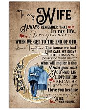 To Wife - Moon - Always Remember That I Love You 16x24 Poster front